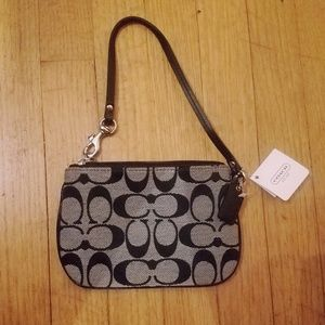 Coach Black and Gray Wristlet